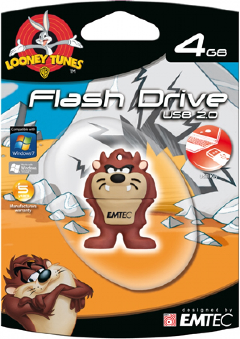 PEN DRIVE LOONEY TUNES TAZ 4GB - COD.1407