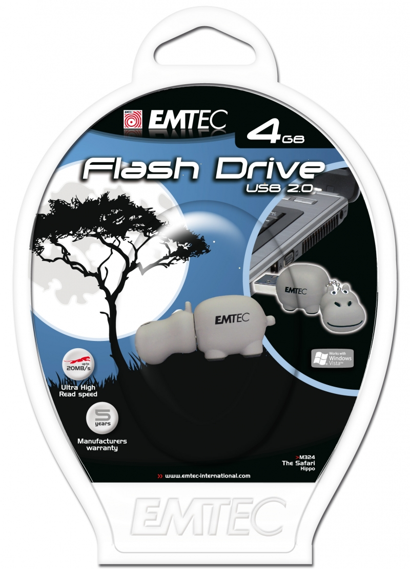 PEN DRIVE EMTEC FLASH SAFARI HIPO 4GB - COD.1507