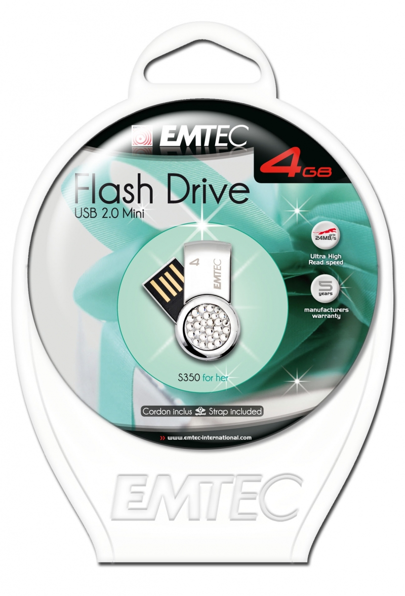 PEN DRIVE EMTEC FLASH FEMININO 4GB - COD.1408