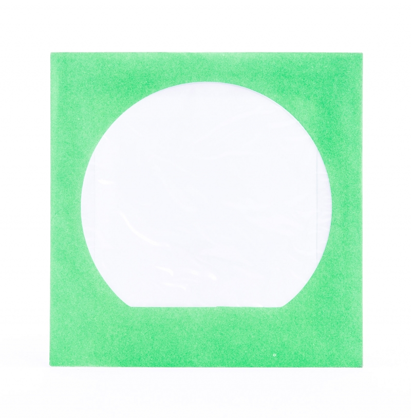 ENVELOPE CD VERDE C/ VISOR - COD.135