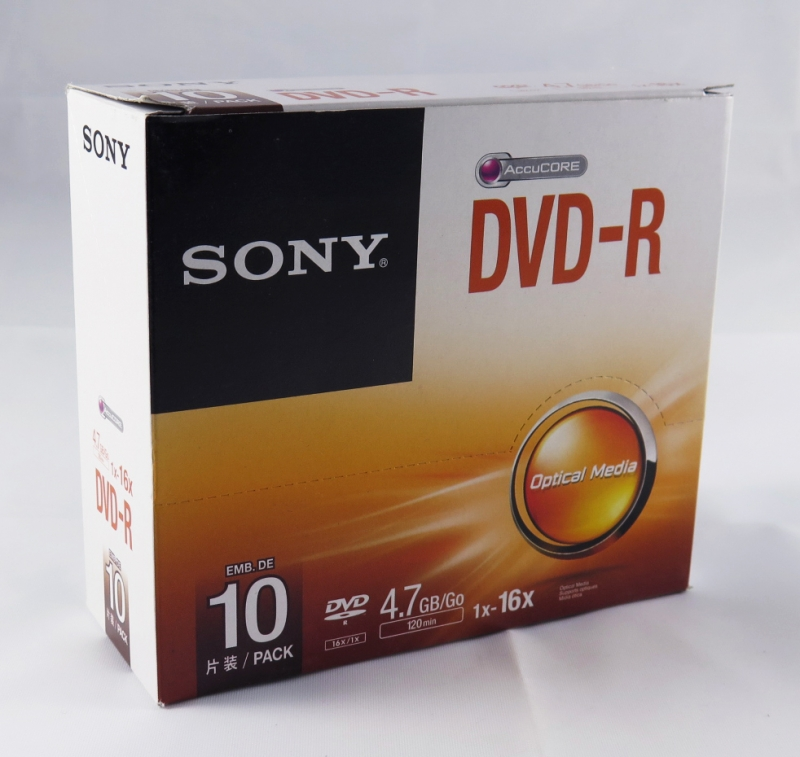 <p>DVD-R SONY BOX C/10 120MIN / 4.7GB / 16X - C&Oacute;D.179</p>