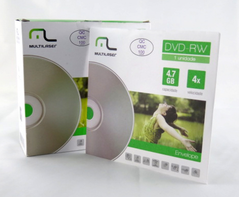 <p>DVD-RW MULTILASER ENVELOPE 120MIN/4.7GB/4X - C&Oacute;D.2337</p>