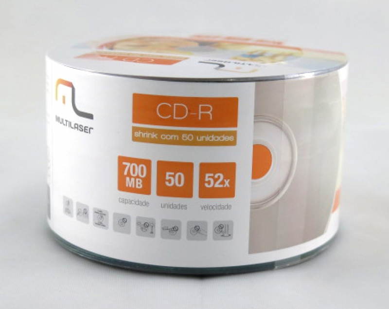 <p>CDR MULTILASER PINO 80MIN/700MB/52X PRINTABLE - C&Oacute;D.365</p>
