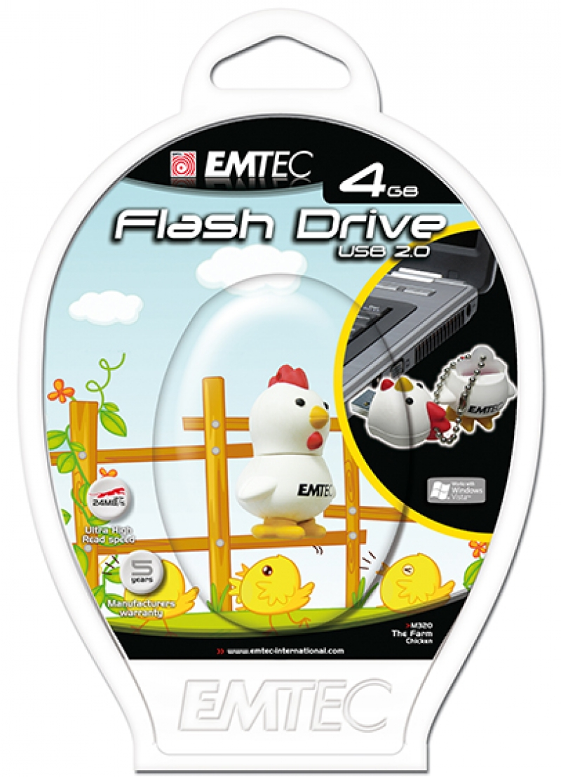 PEN DRIVE FLASH ANIMAL GALINHA 4GB - COD.1320