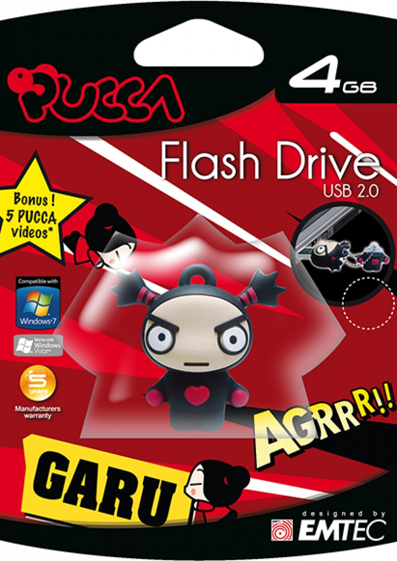 PEN DRIVE FLASH GARU 4GB - COD.1554