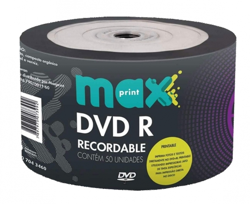 <p>DVD-R MAXPRINT PRINTABLE PINO 120MIN / 4.7GB / 8X - CÓD.479</p>