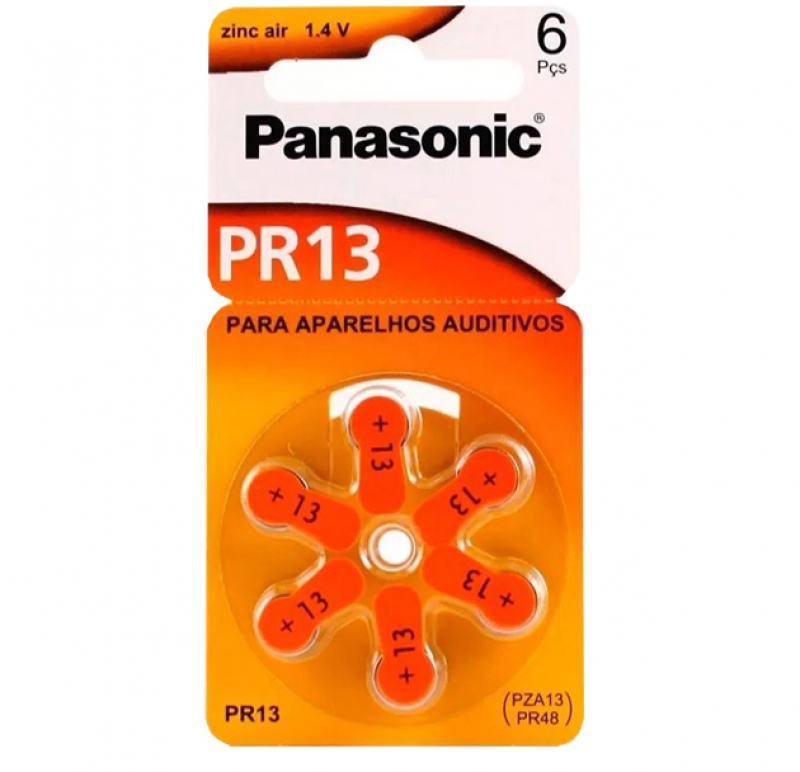 BATERIA 1,4V AUDITIVA PANASONIC PR13 - COD.3053