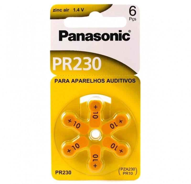 BATERIA 1,4V AUDITIVA PANASONIC PR230 - COD.3052