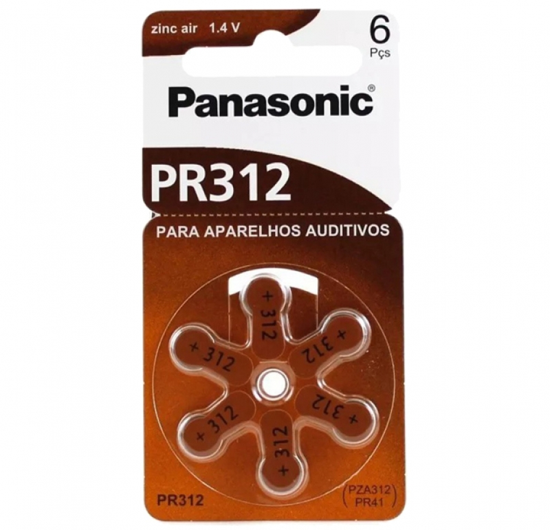 BATERIA 1,4V AUDITIVA PANASONIC PR312 - COD.3054